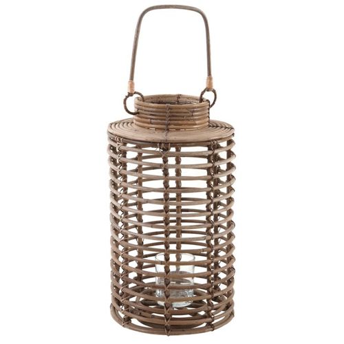 ou trouver eclairage deco jardin lanterne ronde en bambou naturel