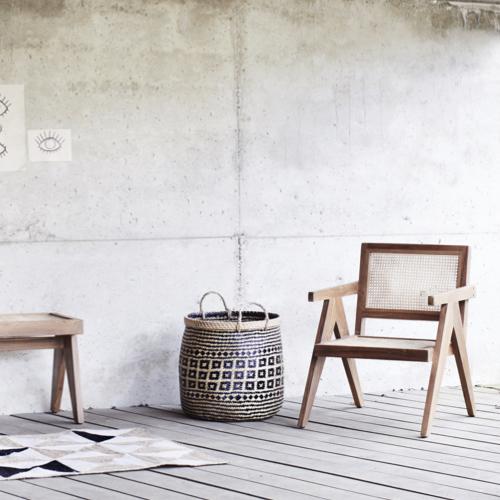 ou trouver fauteuil epure design cannage chaise avec accoudoir bois tendance slow living