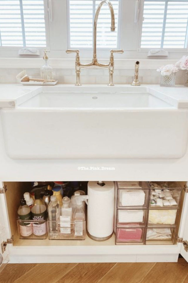 rangement meuble vasque organisation exemple pratique fonctionnel idée à copier