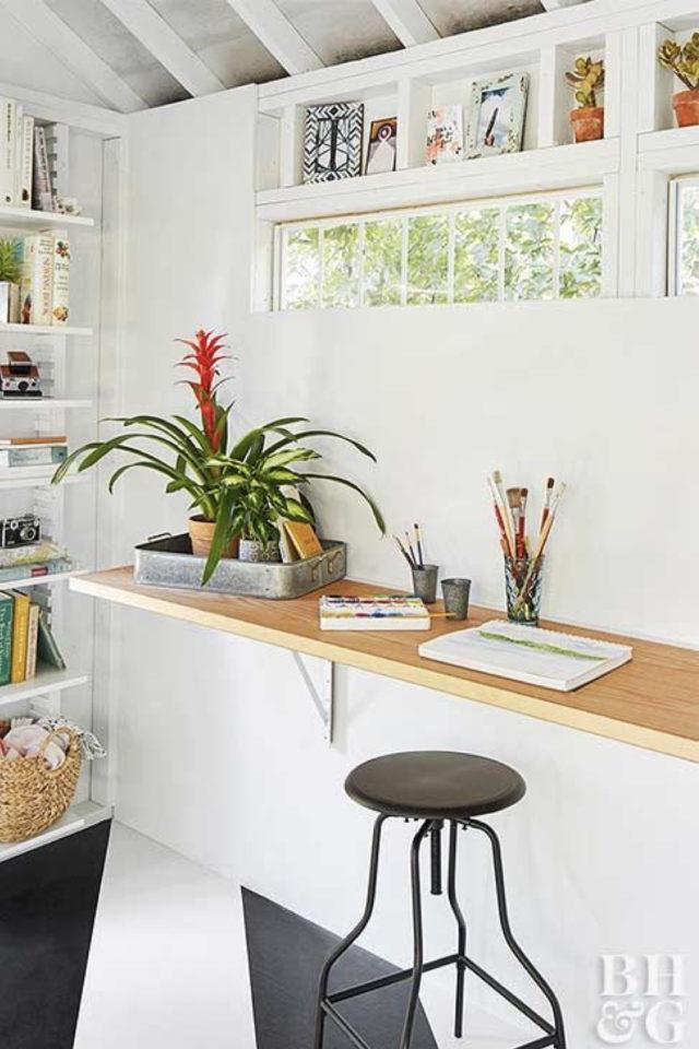 she shed espace a soi jardin tablette espace de travail bureau
