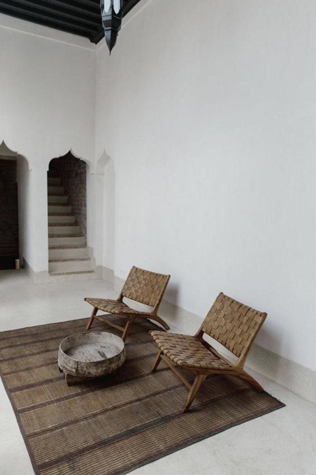 slow living fauteuil lounge ambiance moderne et  épurée