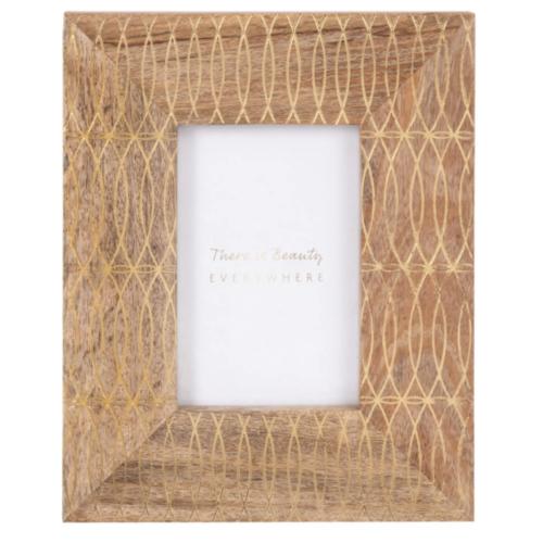 soldes decoration style slow petit cadre en bois