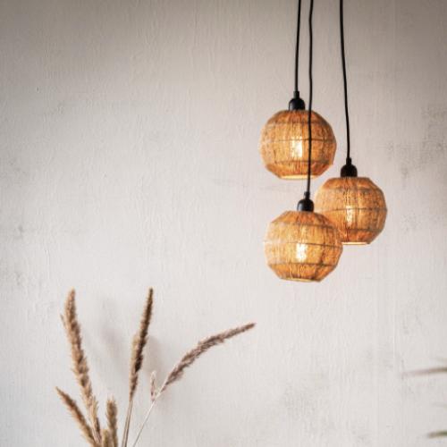 soldes decoration style slow suspension luminaire naturel