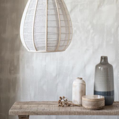 soldes decoration style slow vase en grès bi colore gris et bleu kinfolk