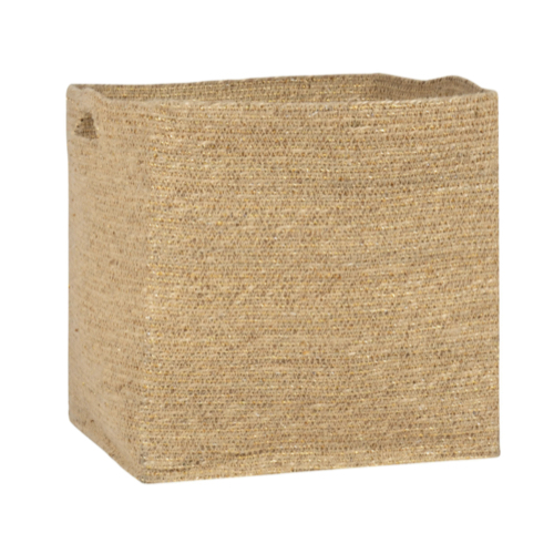 soldes decoration style slow boite de rangement en osier bambou tressé