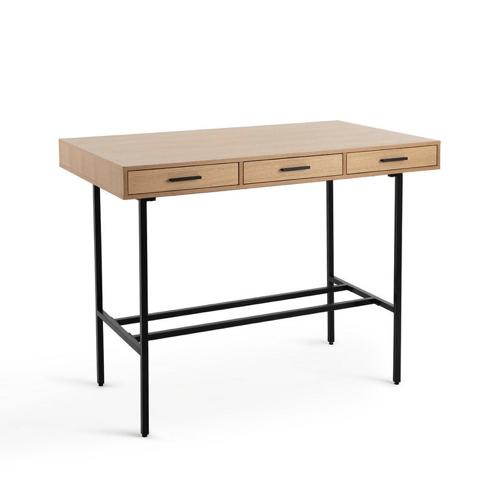 soldes ete deco mobilier maison la redoute table bar ilot bois et noir petit prix