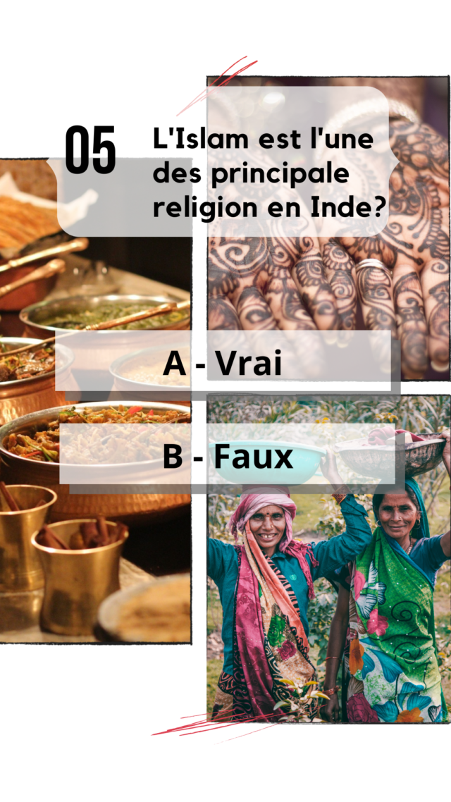 QCM Inde culture générale religion islam hindouisme catholicisme  bouddhisme
