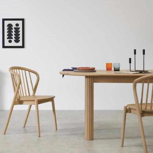deco ete automne idee chaise de cuisine salle à manger en bois moderne
