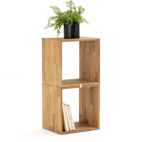 decoration cosy naturelle moderne Lot de 2 étagères rangement en chêne massif