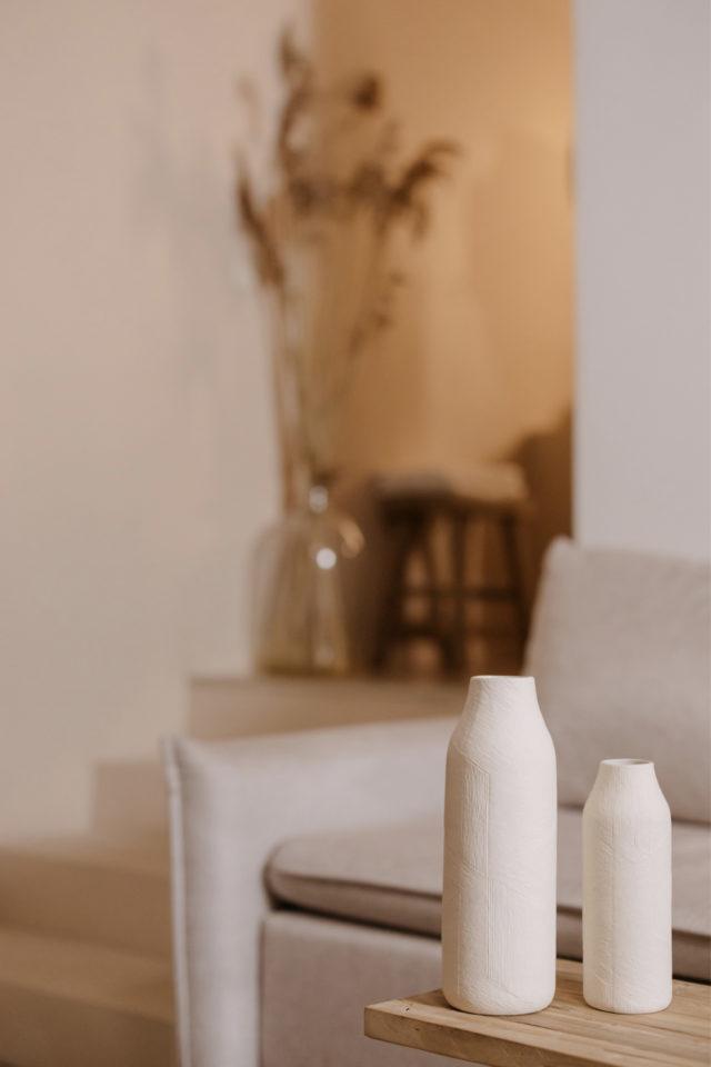 decoration moderne slow living exemple décoration table basse salon épuré