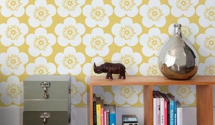 idee decoration quotidien ete motif jaune papier peint saison estivale bonne humeur