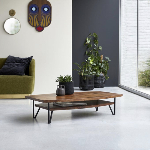 meuble style masculin en soldes Table basse en bois de Palissandre massif Bonnie
