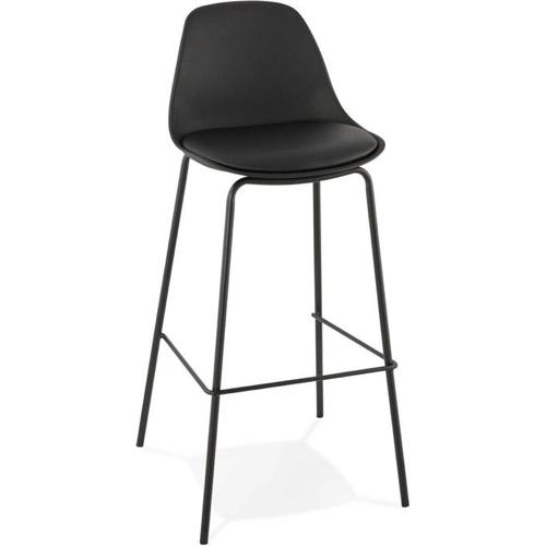 meuble style masculin en soldes  Tabouret de bar design Escal en résine noire