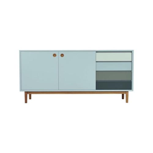 pas cher mobilier decoration couleur Buffet design moderne en bois bleu azur