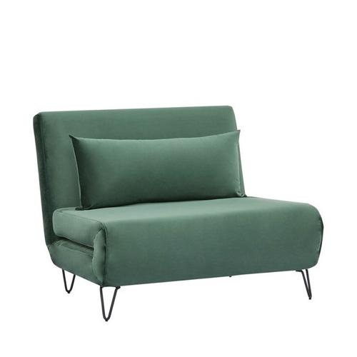 pas cher mobilier decoration couleur Fauteuil convertible en velours vert