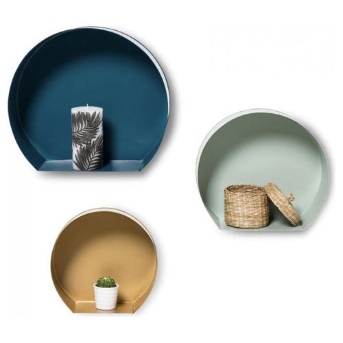 pas cher mobilier decoration couleur Etagere murale set Triple moderne ronde
