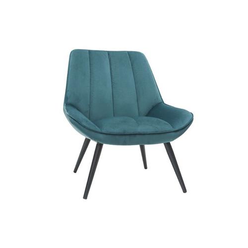 pas cher mobilier decoration couleur Fauteuil design en velours bleu soldes promotion
