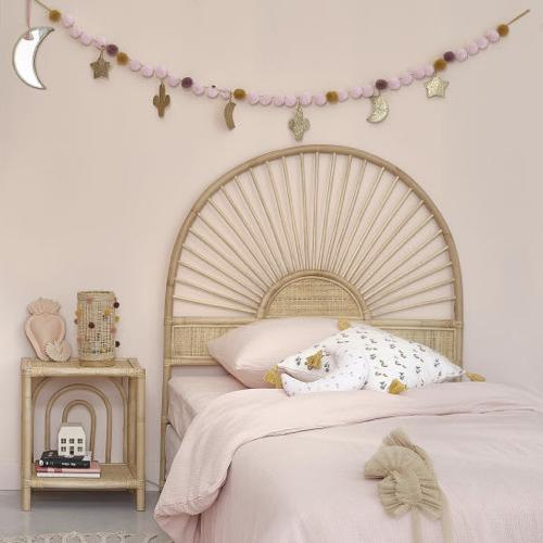 selection ete automne decoration tête de lit en rotin 1 personne