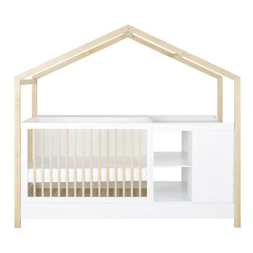 selection ete automne decoration lit bébé évolutif cabane bois et blanc