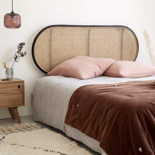 slow decoration accessoire pas cher tête de lit ovale en cannage