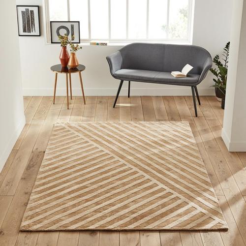 slow decoration accessoire pas cher tapis couleur naturelles et neutres motifs géométrique