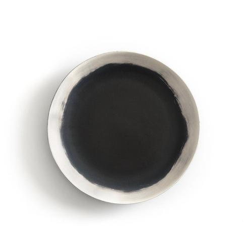 slow decoration accessoire pas cher lot de 4 assiette blanche et charbon