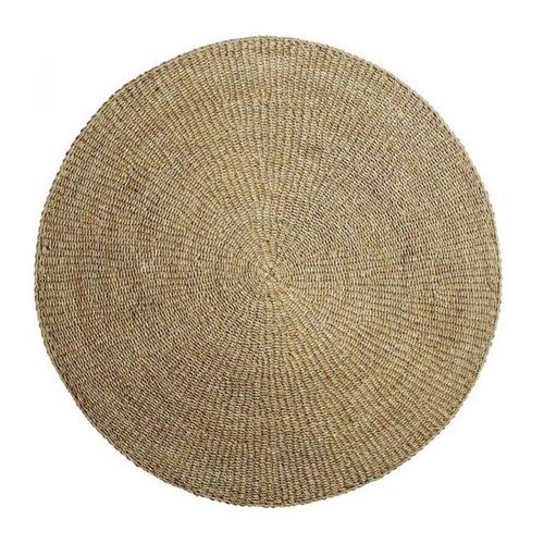 slow decoration accessoire pas cher tapis rond en jute naturelle
