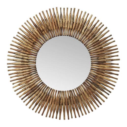 slow decoration accessoire pas cher miroir ethnique en bois
