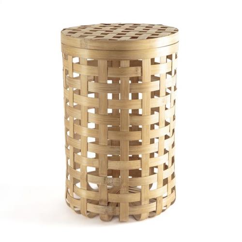 slow decoration accessoire pas cher panière ronde en bambou
