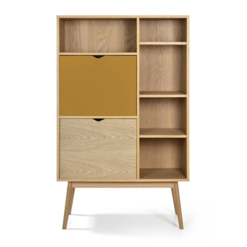 soldes meuble style slow deco petite bibliothèque en bois moderne