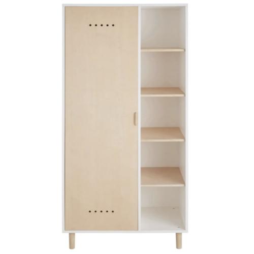 soldes meuble style slow deco armoire une porte bois blanc moderne