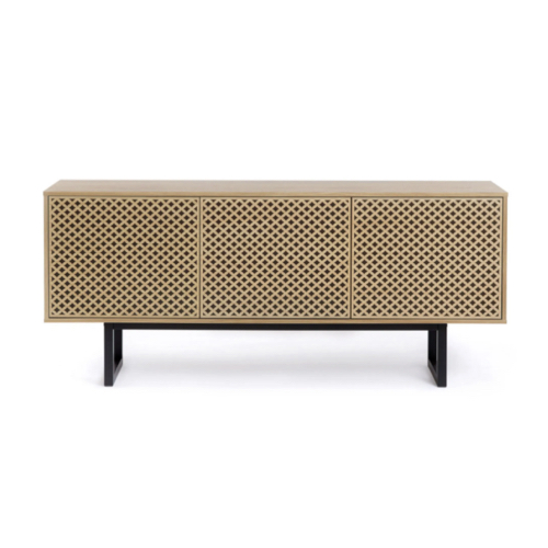 soldes meuble style slow deco meuble TV en cannage buffet 3 portes