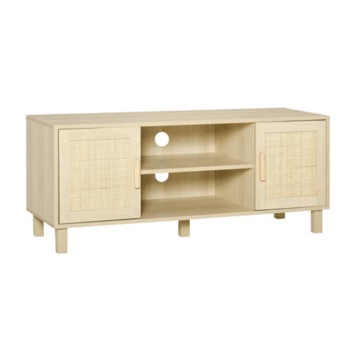soldes meuble style slow deco meuble tv portes et étagères en bois moderne