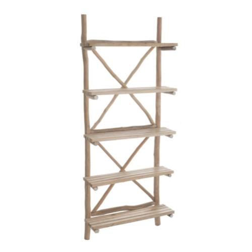 soldes meuble style slow deco bibliothèque étagère en bois naturel