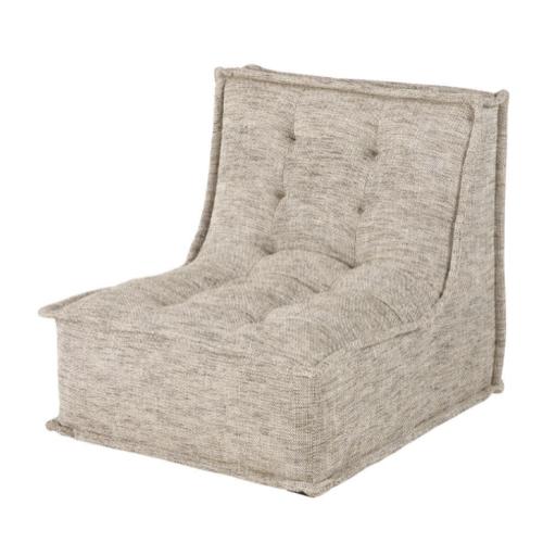 soldes meuble style slow deco chauffeuse moderne couleur greige chiné