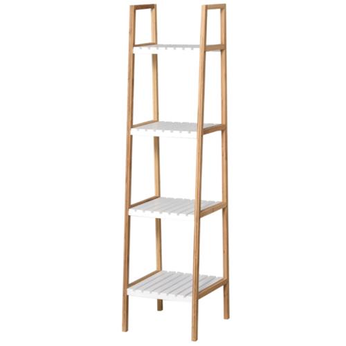 soldes meuble style slow deco étagère peu large bois et blanc