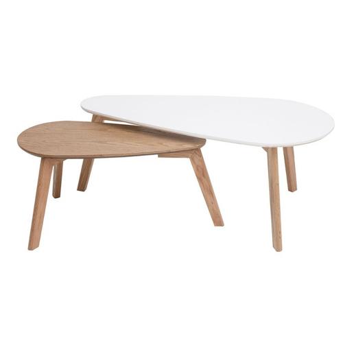 style slow deco mobilier pas cher table basse scandinave bois et blanc