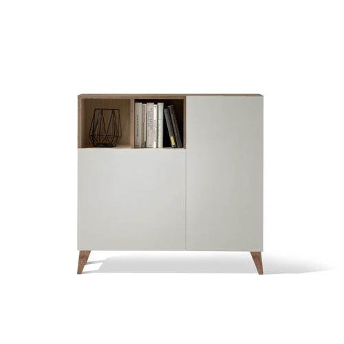 style slow deco mobilier pas cher meuble à chaussure blanc et bois design épuré