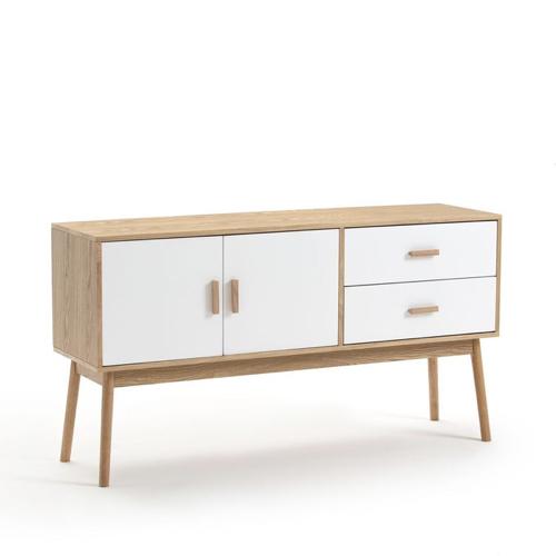 style slow deco mobilier pas cher buffet en bois avec portes et tiroirs blancs