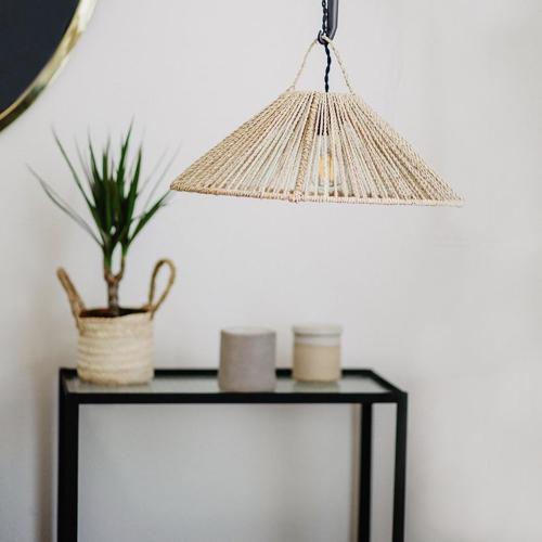 tendance slow living deco pas cher suspension naturelle en bambou