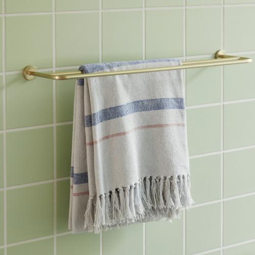 accessoire deco salle de bain moderne porte serviette mural en laiton