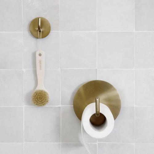 accessoire deco salle de bain moderne dérouleur papier toilette en laiton