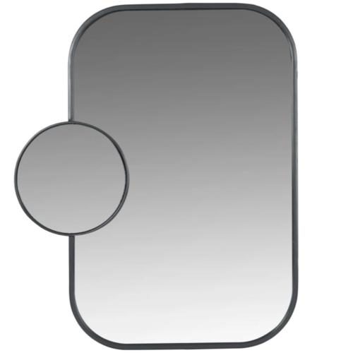 deco salle de bain maisons du monde miroir noir rectangulaire original