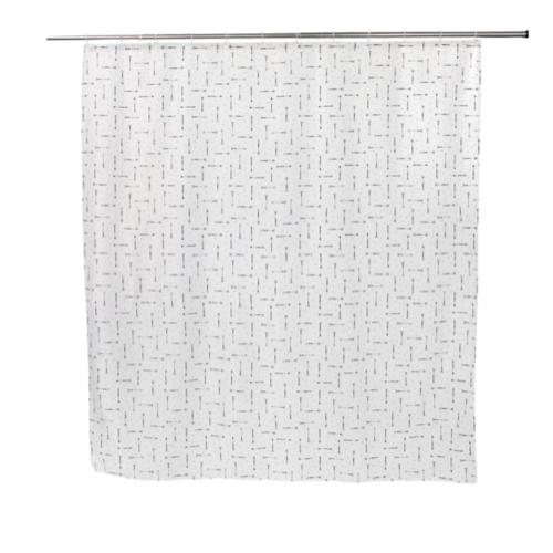 deco salle de bain maisons du monde rideau de douche blanc et gris