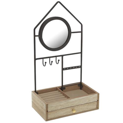 deco salle de bain maisons du monde petit porte-bijoux bois et métal