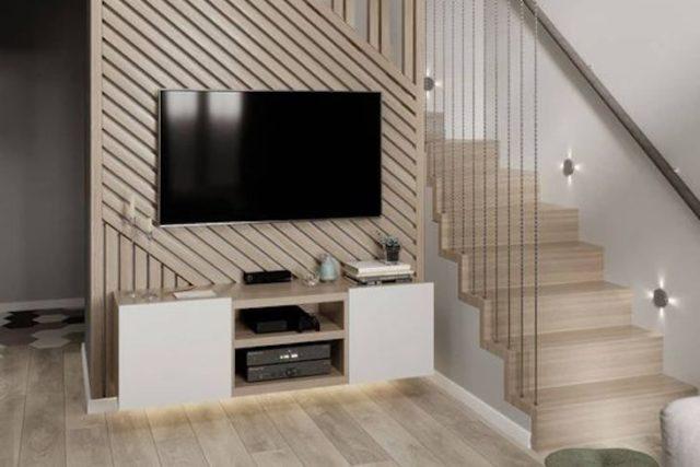 escaliers ouvert salon design exemple conseils idées couleurs matériaux apparence rangement