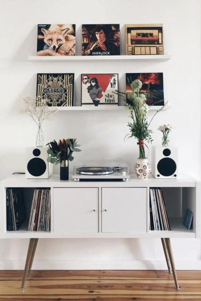 exemple decoration meuble platine vinyle decoration murale pochette album platine