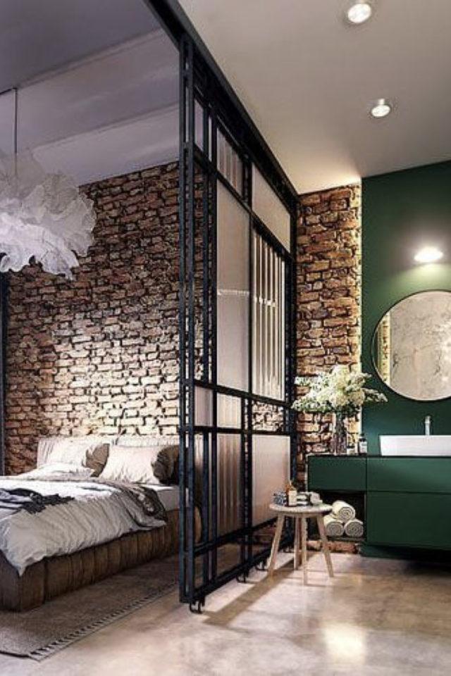 exemple verriere moderne chambre verre granité opacité original séparation salle de bain suite parentale