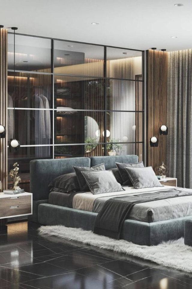exemple verriere moderne chambre grande cloison en verre