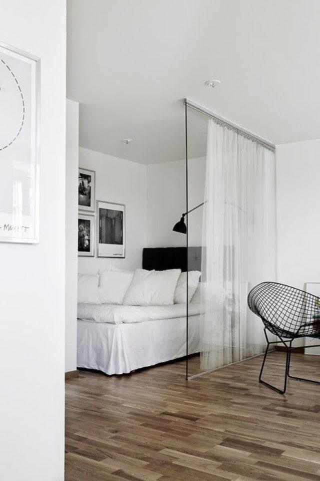 exemple verriere moderne chambre lumière naturelle rideau voilage intimité
